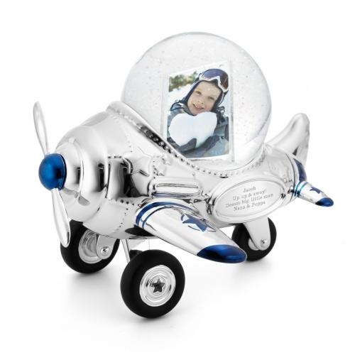 "Снежный шар ""Аэроплан с фоторамкой"""