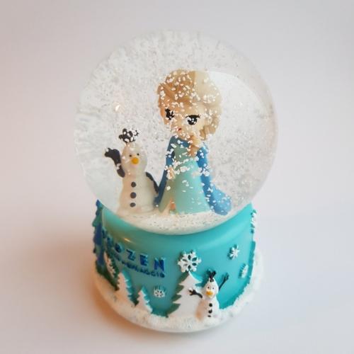 Снежный шар c автоснегом и подсветкой Frozen mini
