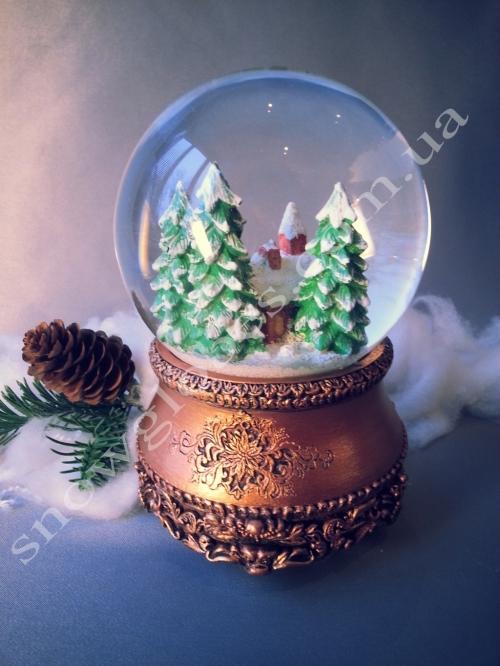 """Снежный шар """"Церквушка в бронзе"""""""