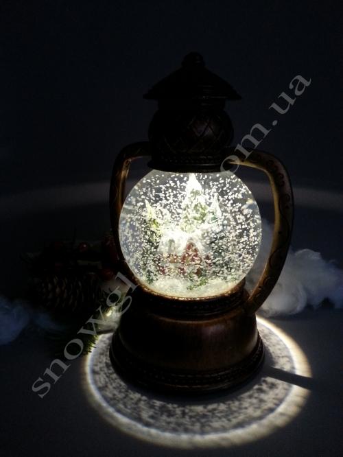 """Снежный шар """"Керосиновая лампа"""""""