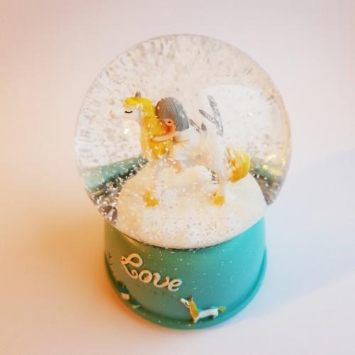 Снежный шар Love unicorn №2