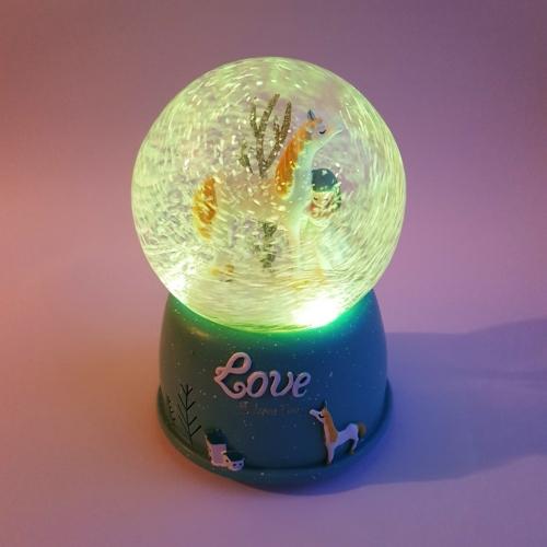Снежный шар Love unicorn №1