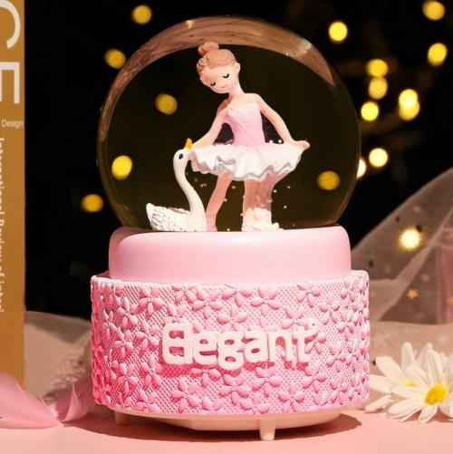 Снежный шар c автоснегом и подсветкой Elegant ballerina №2