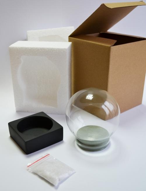 Набор для создания шара 100мм квадратная черная форма