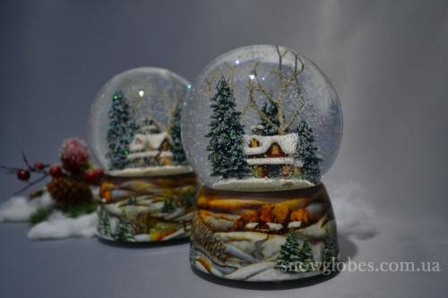 """Снежный шар """"Коттедж"""""""