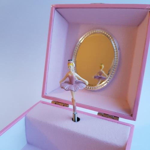 Большая музыкальная шкатулка «Балерина и цветы»