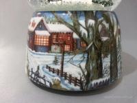 "Снежный шар ""Снеговик в лесу"""