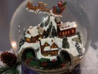 """Снежный шар """"Санта и паровозик"""""""