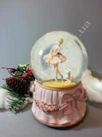 "Снежный шар ""Балерина и пес"""