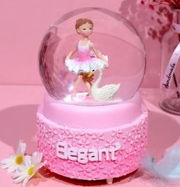 Снежный шар c автоснегом и подсветкой Elegant ballerina №1