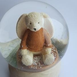 Снежный шар c автоснегом и подсветкой Happy bunny