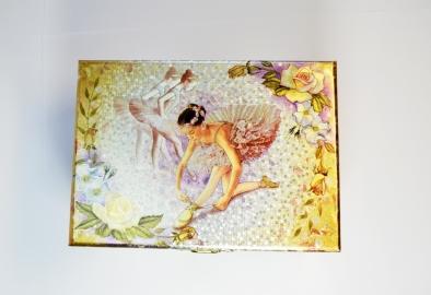 Музыкальная шкатулка «Балерина в золоте»