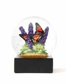 """Снежный шар """"Бабочки в цветах"""""""
